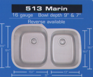 Eclipse 513 Marin Sink