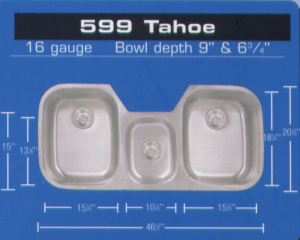 Eclipse Stainless Triple Bowl Sink