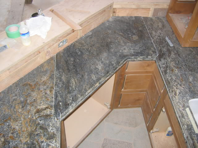 badseams3 countertop1 finished granite - Cheap Granite Countertops