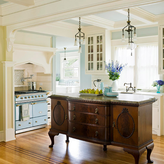 Antique-Buffet-Kitchen-Island