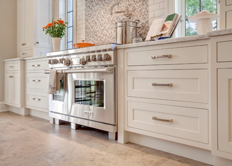 ... Kitchen Cabinets Tile Stove